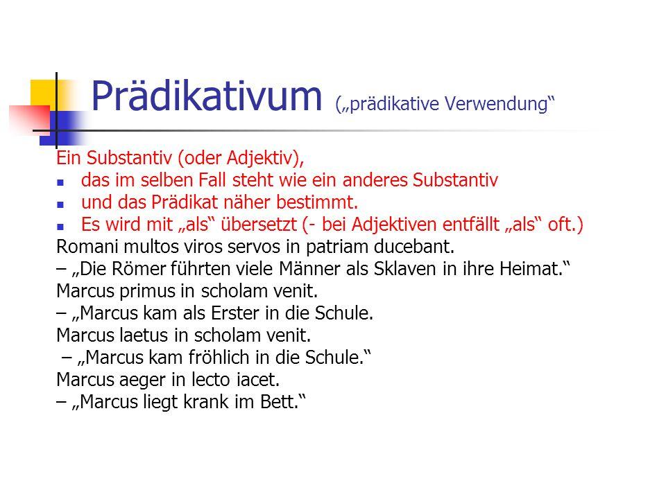 """Prädikativum (""""prädikative Verwendung"""