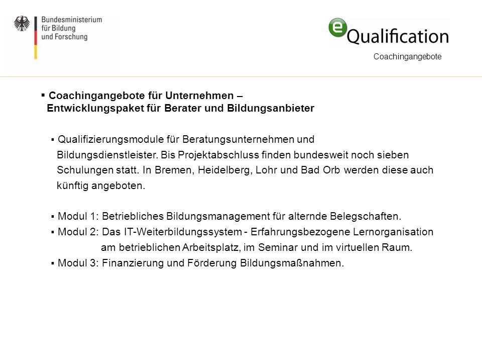 Qualifizierungsmodule für Beratungsunternehmen und