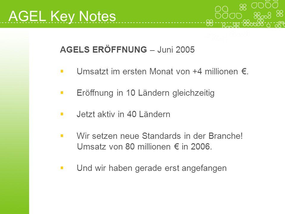 AGEL Key Notes AGELS ERÖFFNUNG – Juni 2005