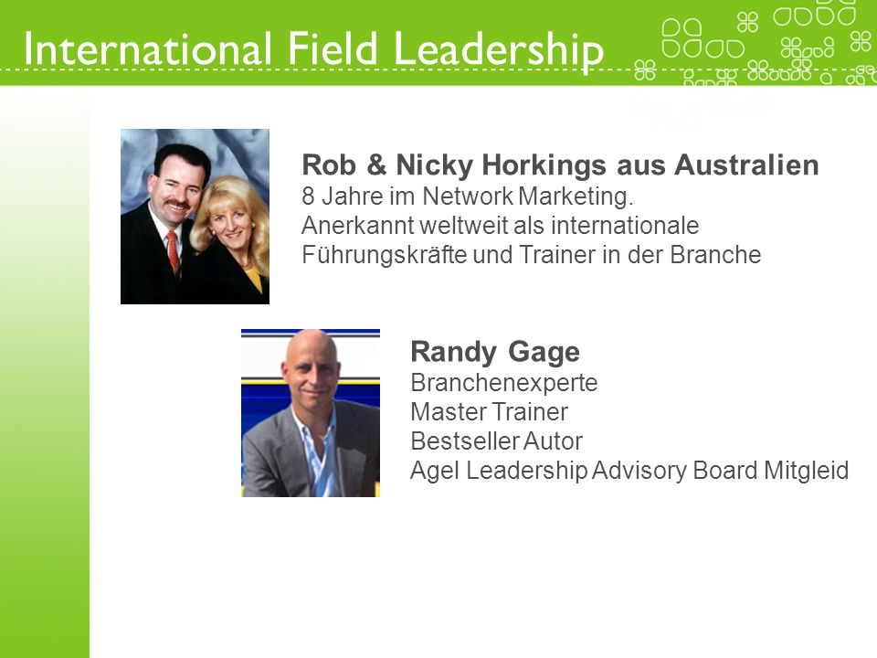 International Field Leadership