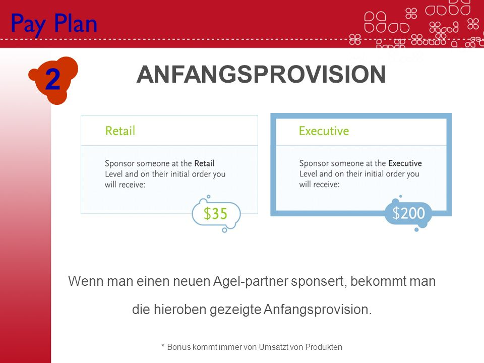 2 Pay Plan ANFANGSPROVISION