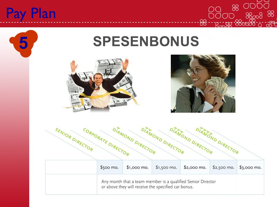 Pay Plan 5 SPESENBONUS