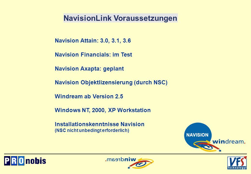 NavisionLink Voraussetzungen