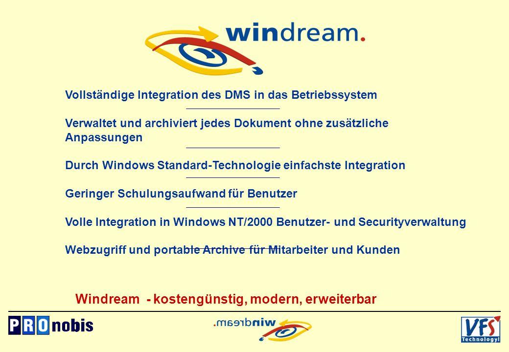 Windream - kostengünstig, modern, erweiterbar