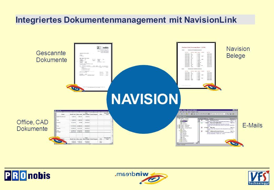 NAVISION Integriertes Dokumentenmanagement mit NavisionLink Navision
