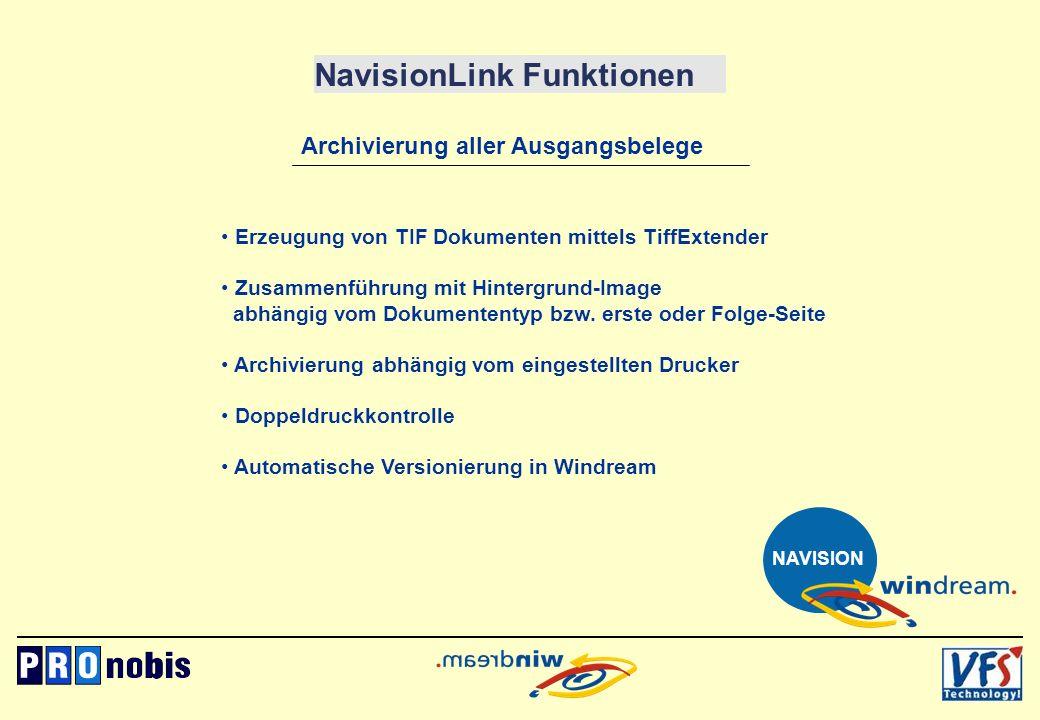 NavisionLink Funktionen