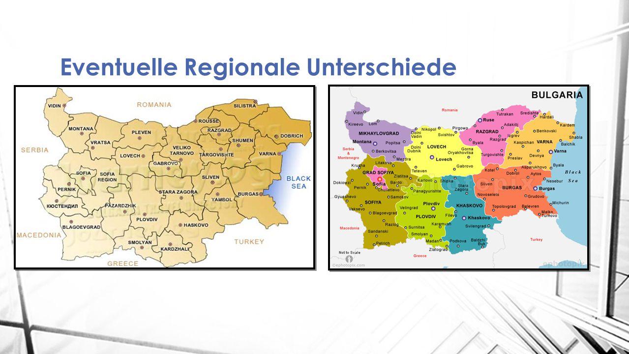 Eventuelle Regionale Unterschiede