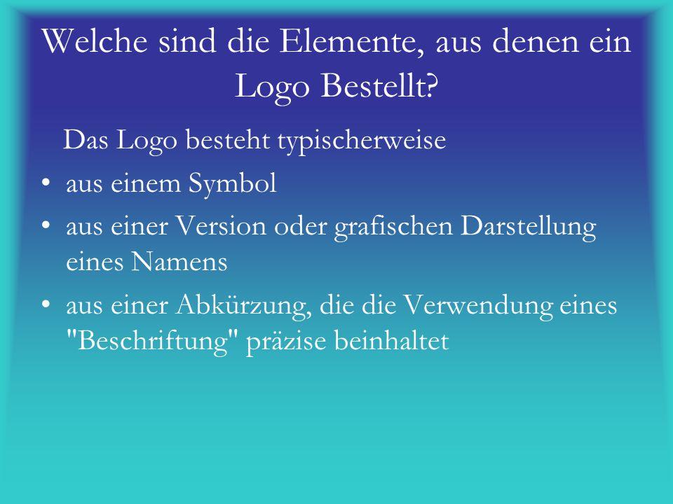 Welche sind die Elemente, aus denen ein Logo Bestellt