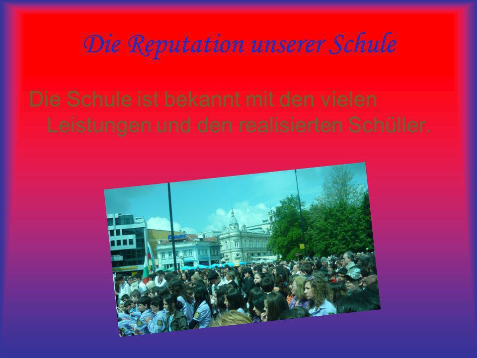 Die Reputation unserer Schule