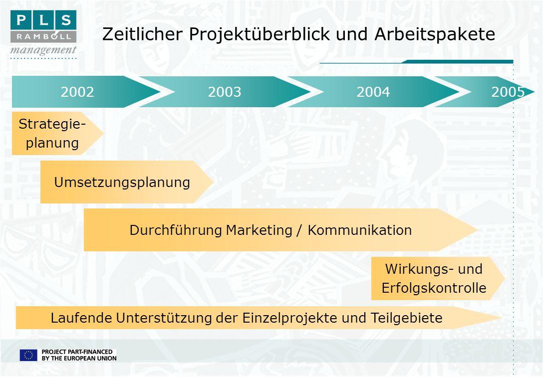 Zeitlicher Projektüberblick und Arbeitspakete