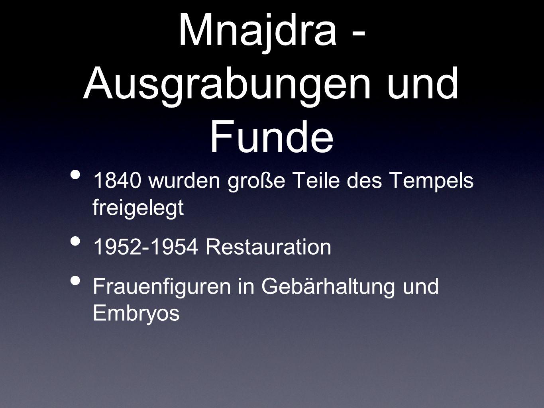 Mnajdra - Ausgrabungen und Funde