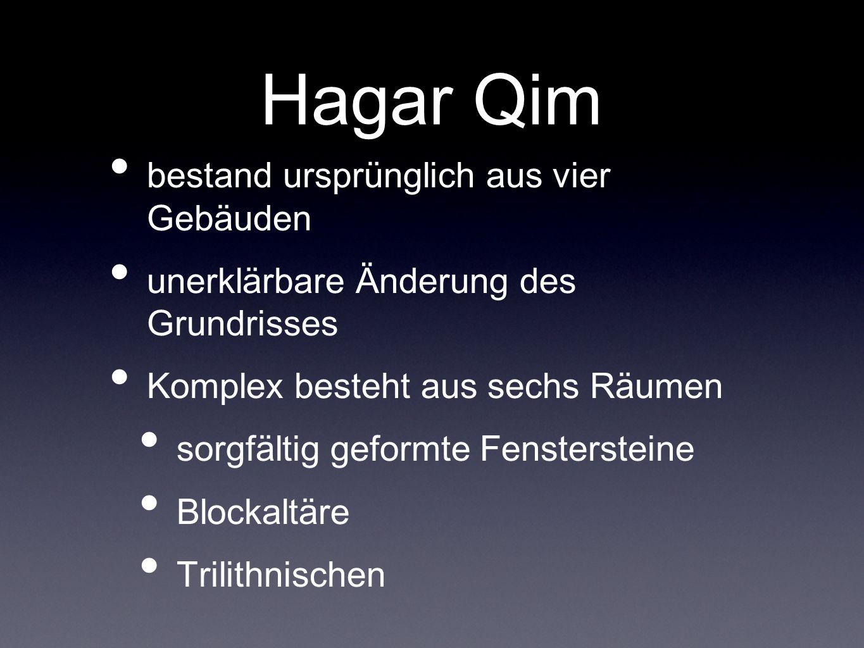 Hagar Qim bestand ursprünglich aus vier Gebäuden
