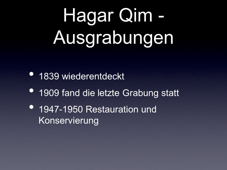 Hagar Qim - Ausgrabungen