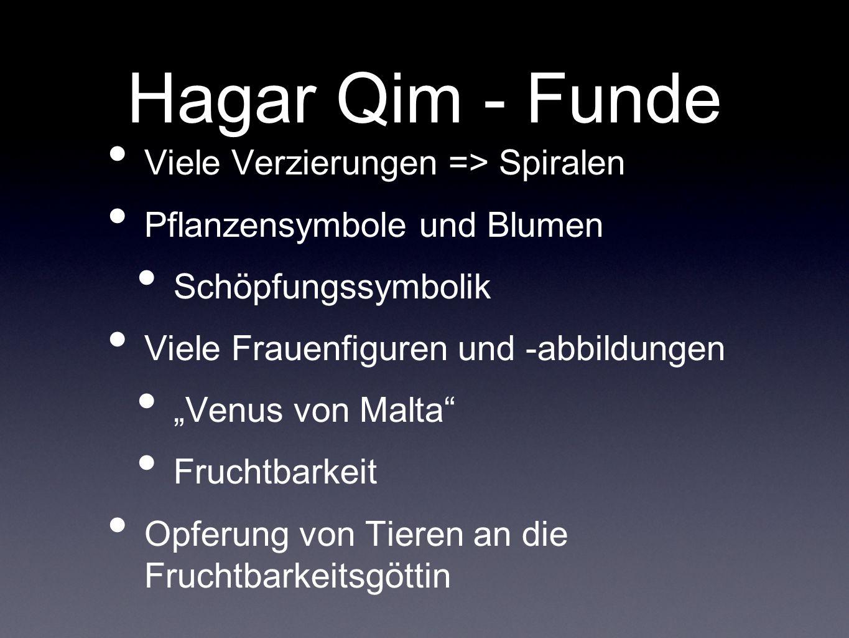 Hagar Qim - Funde Viele Verzierungen => Spiralen