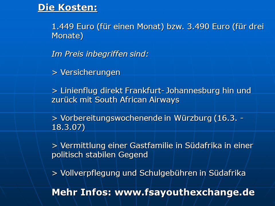Mehr Infos: www.fsayouthexchange.de