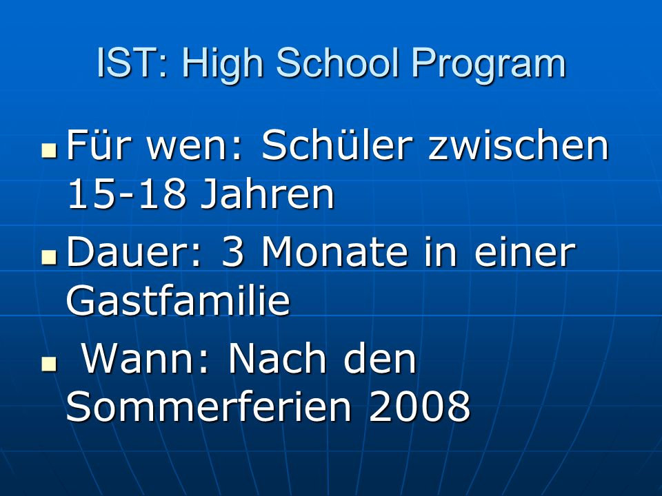 IST: High School Program
