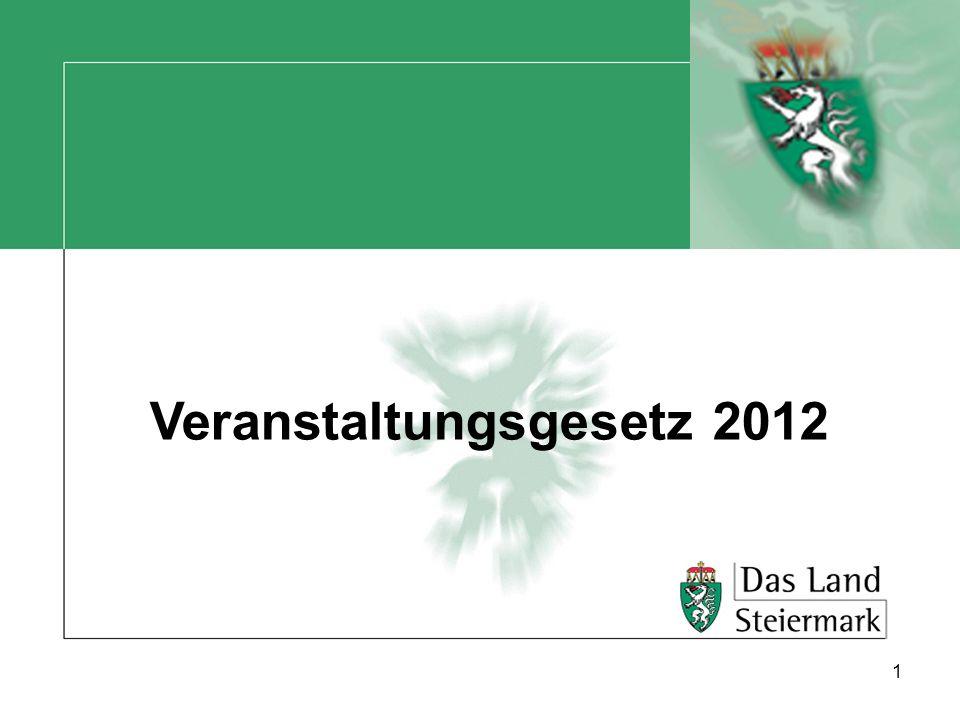 Veranstaltungsgesetz 2012