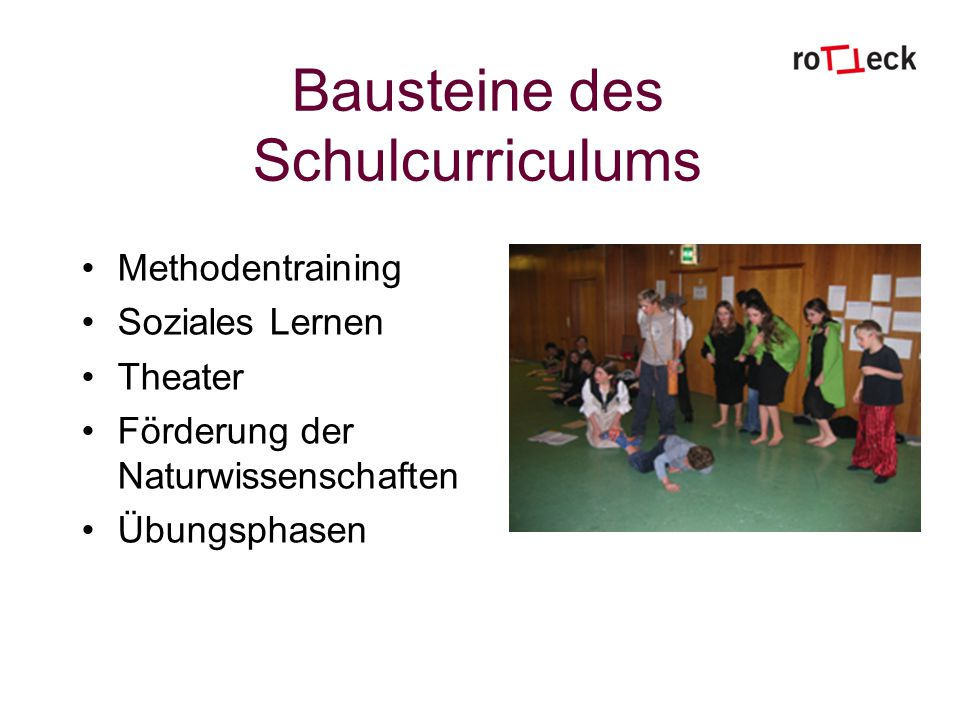 Bausteine des Schulcurriculums