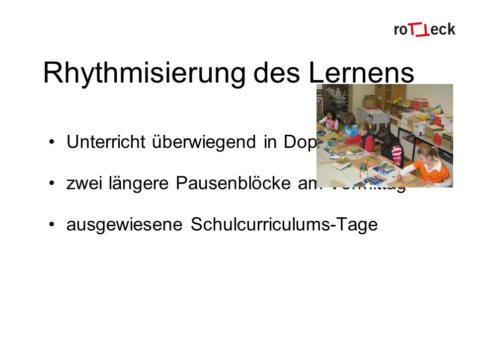 Rhythmisierung des Lernens
