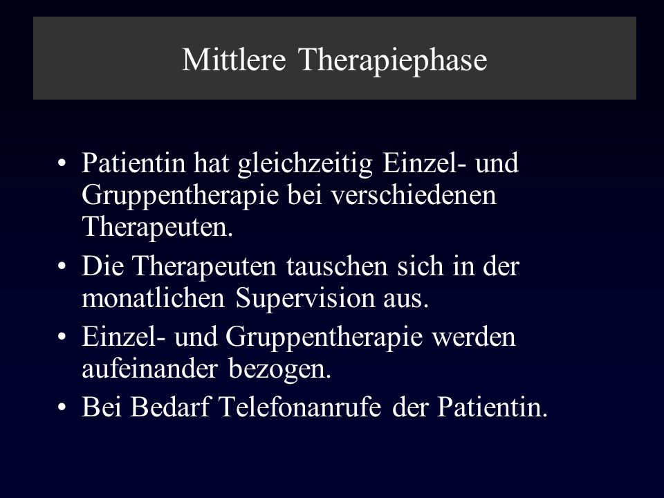Mittlere Therapiephase