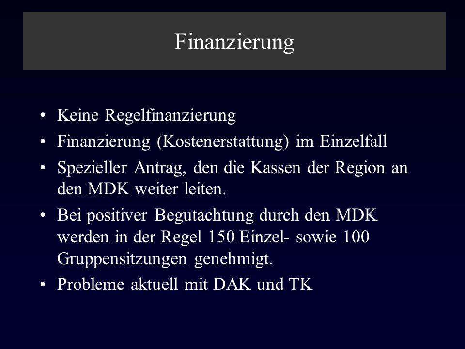 Finanzierung Keine Regelfinanzierung