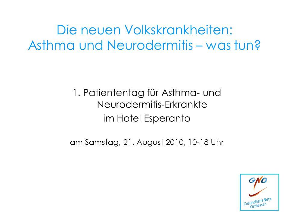 Die neuen Volkskrankheiten: Asthma und Neurodermitis – was tun
