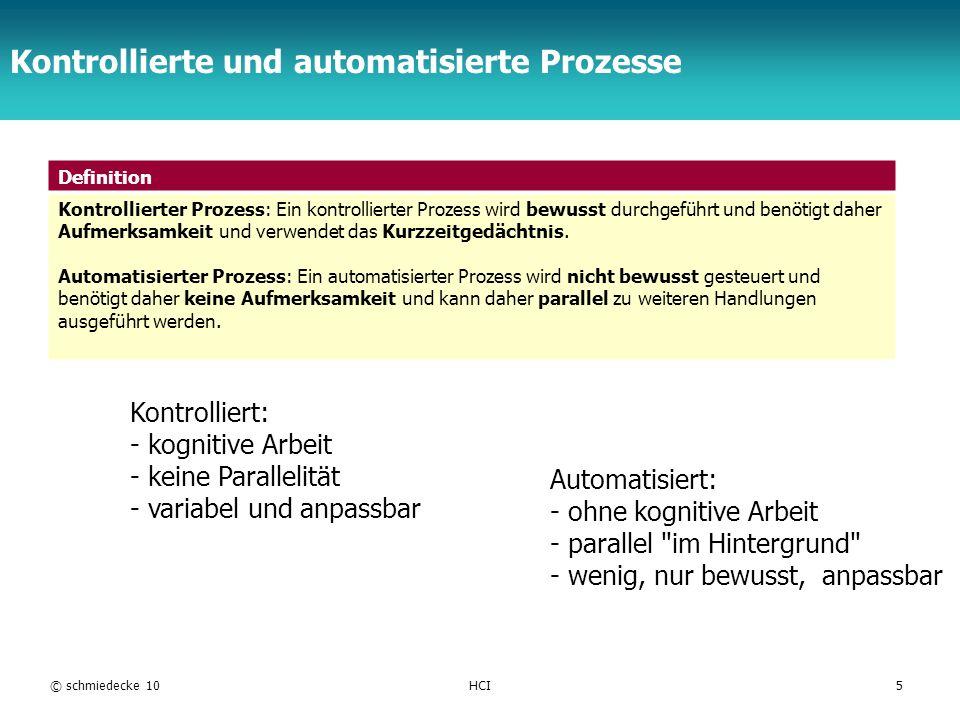 Kontrollierte und automatisierte Prozesse