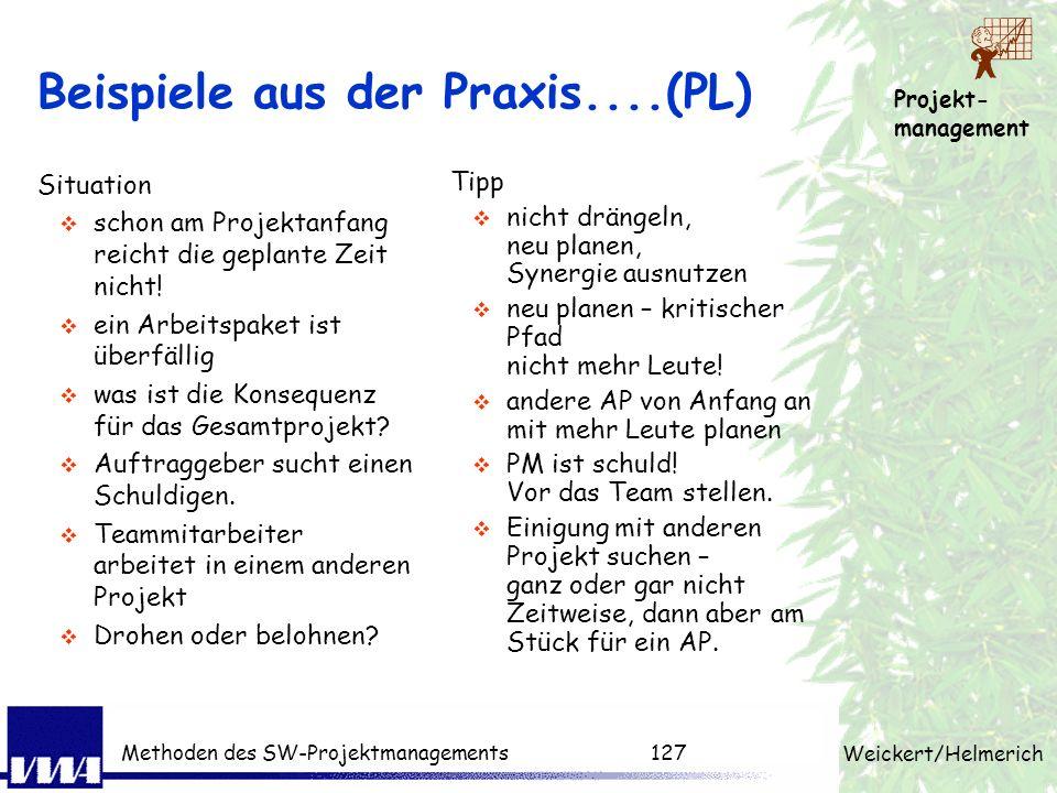 Beispiele aus der Praxis....(PL)