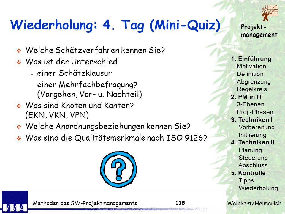 Wiederholung: 4. Tag (Mini-Quiz)