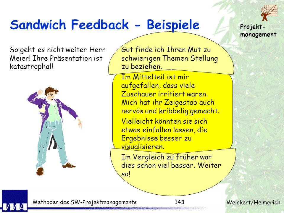 Sandwich Feedback - Beispiele