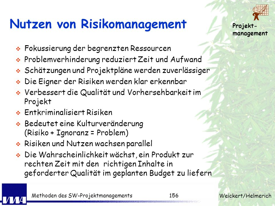 Nutzen von Risikomanagement