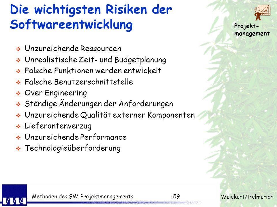 Die wichtigsten Risiken der Softwareentwicklung