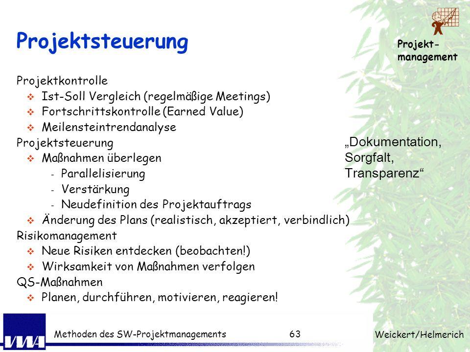 """Projektsteuerung """"Dokumentation, Sorgfalt, Transparenz"""