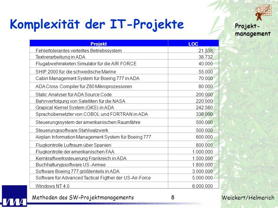 Komplexität der IT-Projekte