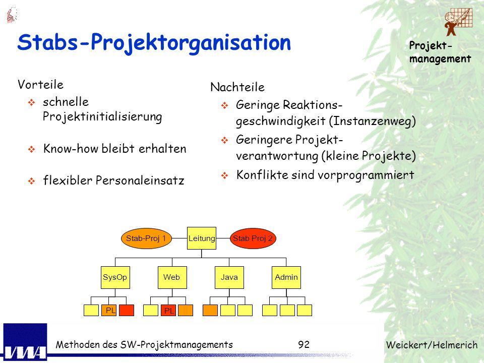 Stabs-Projektorganisation