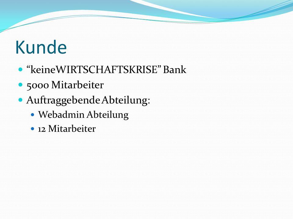 Kunde keineWIRTSCHAFTSKRISE Bank 5000 Mitarbeiter