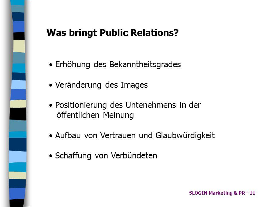 Was bringt Public Relations
