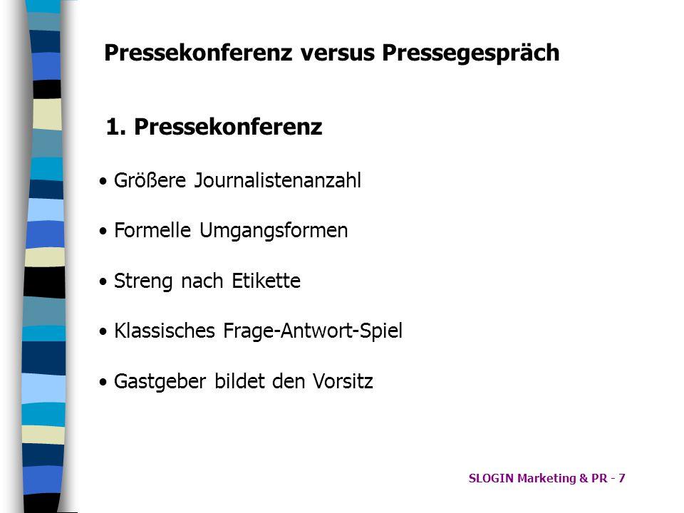 Pressekonferenz versus Pressegespräch