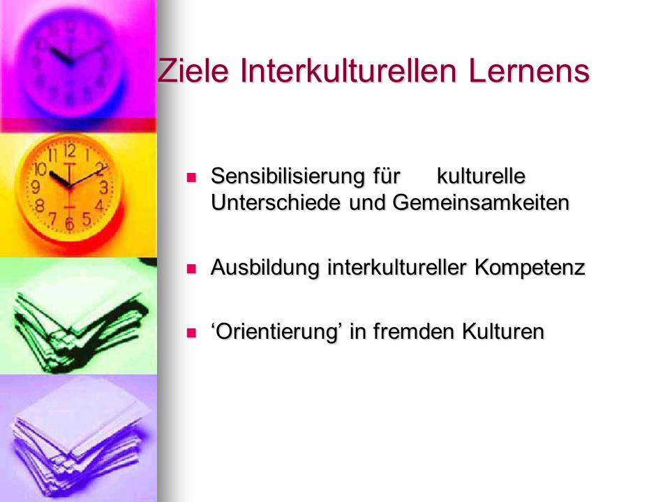 Ziele Interkulturellen Lernens