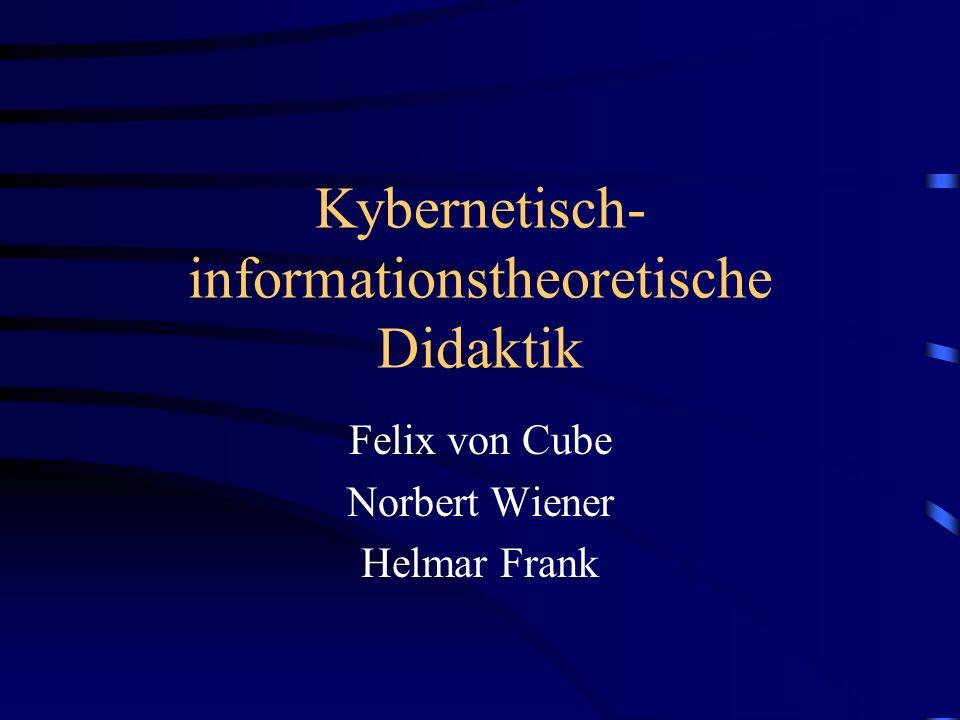 Kybernetisch-informationstheoretische Didaktik