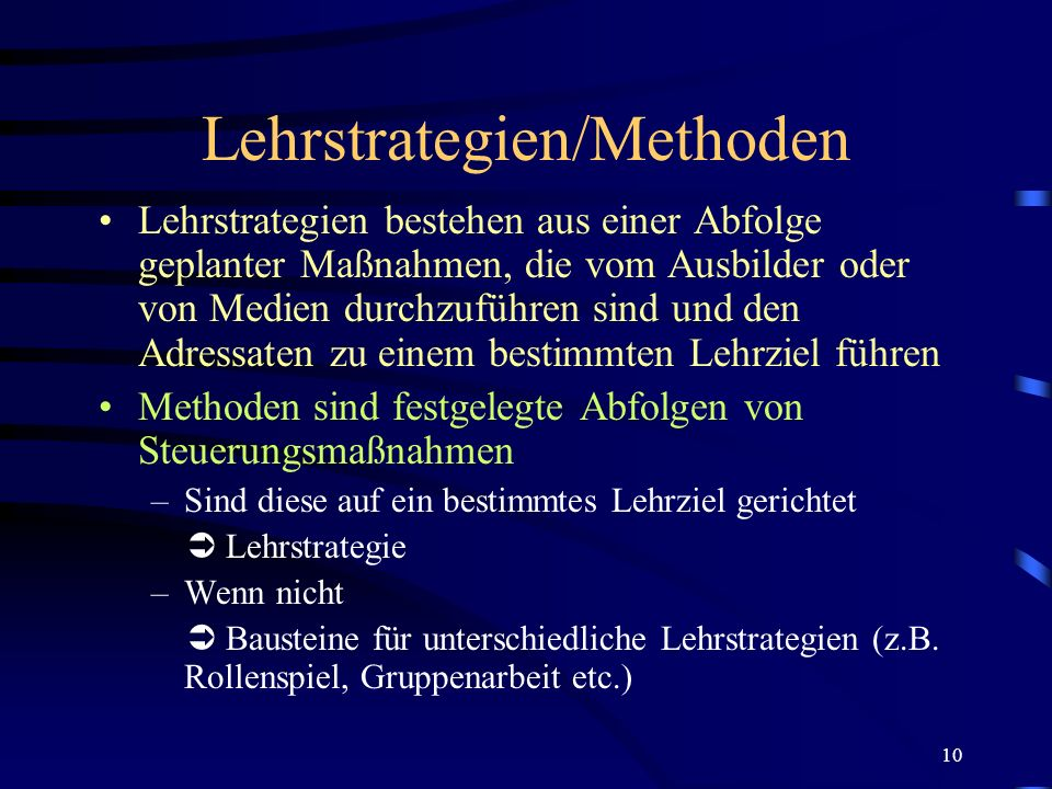 Lehrstrategien/Methoden