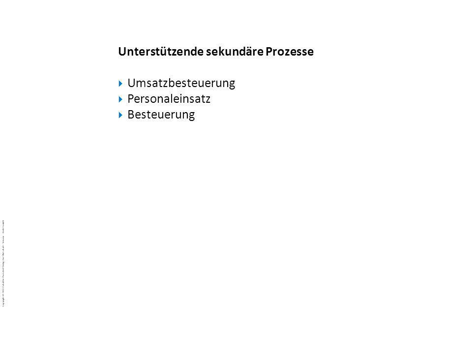 … Unterstützende sekundäre Prozesse Umsatzbesteuerung Personaleinsatz Besteuerung