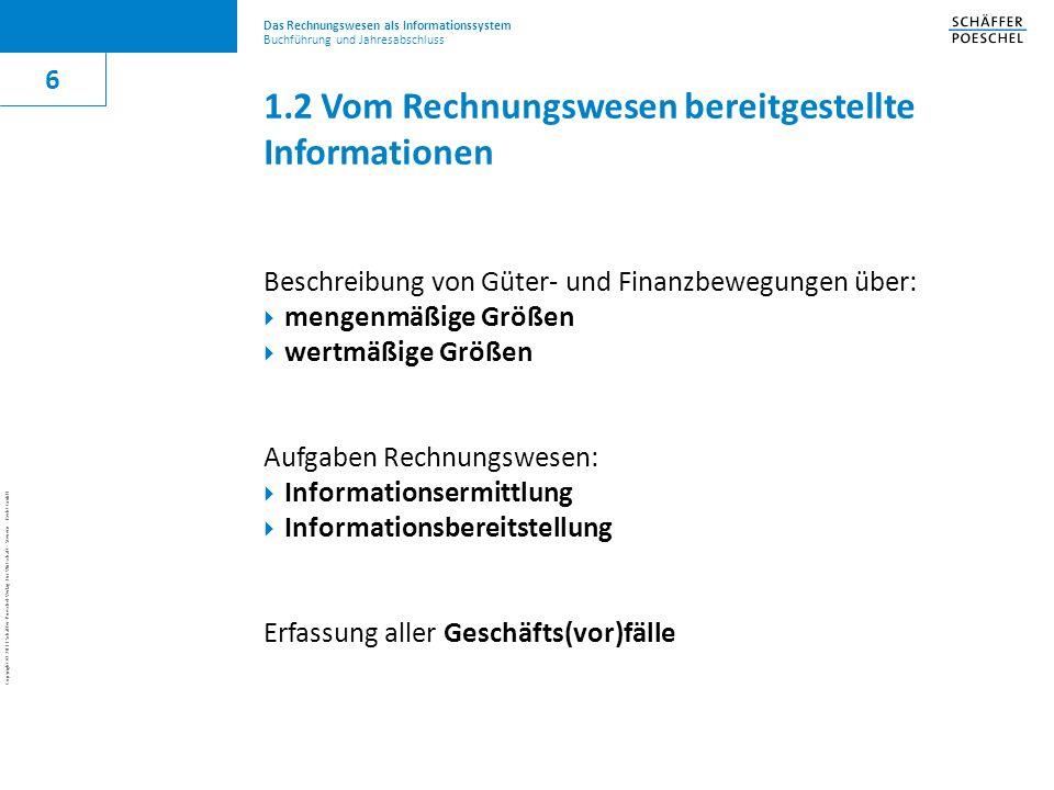 1.2 Vom Rechnungswesen bereitgestellte Informationen