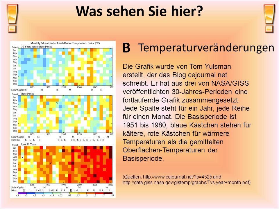 Was sehen Sie hier B Temperaturveränderungen