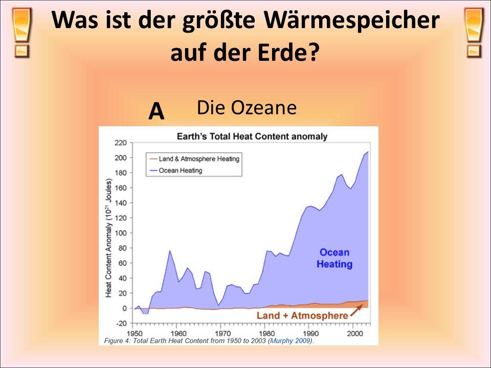 Was ist der größte Wärmespeicher auf der Erde