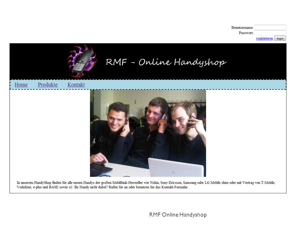 Steffen RMF Online Handyshop