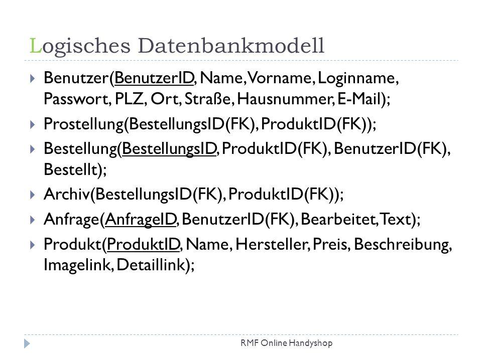 Logisches Datenbankmodell