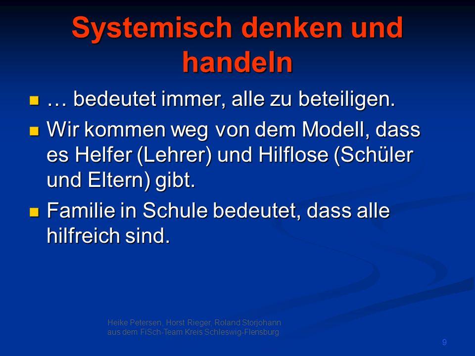 Systemisch denken und handeln
