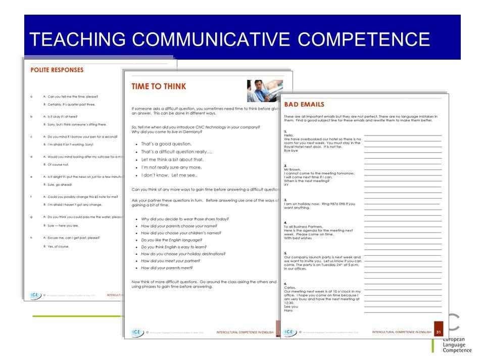TEACHING COMMUNICATIVE COMPETENCE