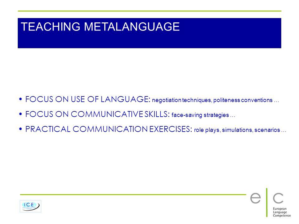 TEACHING METALANGUAGE